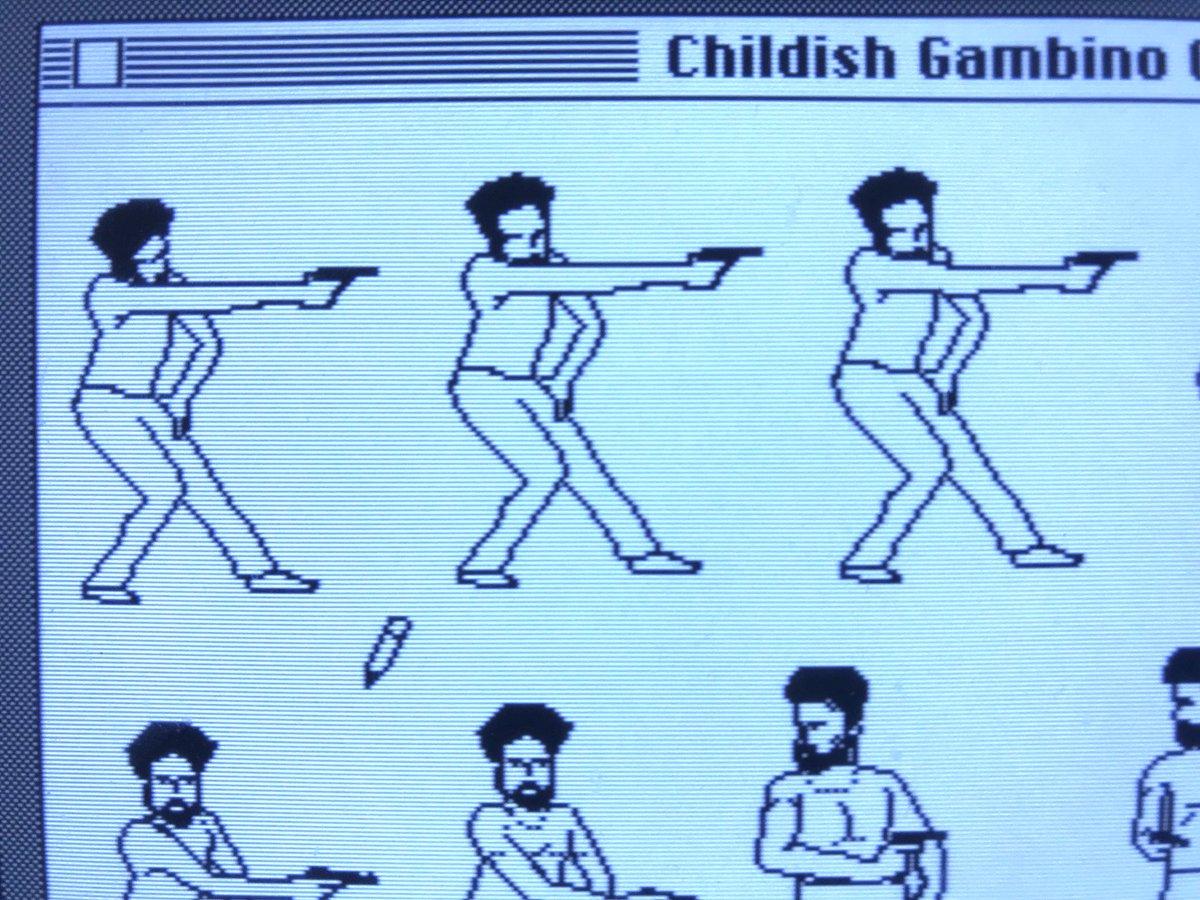 Childish Gambino on the Macintosh 128K